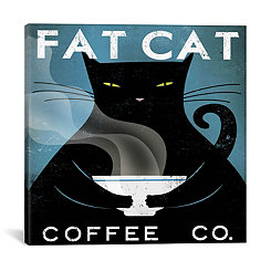 Fat Cat Coffee Company Canvas Art Print