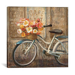 Meet Me at Le Cafe Canvas Art Print