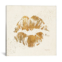 Golden Kiss Canvas Art Print