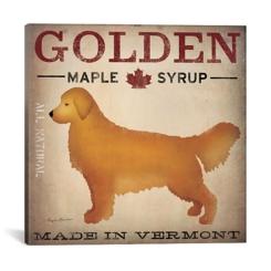 Golden Maple Syrup Canvas Art Print