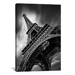 Eiffel Tower Study Canvas Art Print