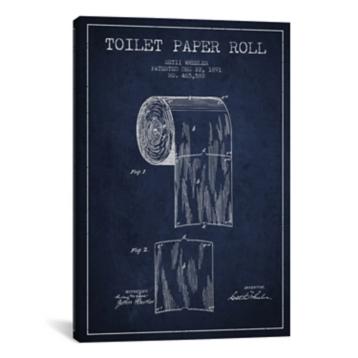 Toilet paper roll blueprint canvas art print kirklands malvernweather Images