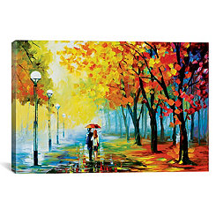Fall Drizzle Canvas Art Print