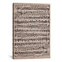 Ode to Joy Sheet Music Canvas Art Print