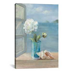 Coastal Floral Canvas Art Print