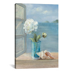 Coastal Floral Canvas Art Print