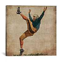 Vintage Football Canvas Art Print