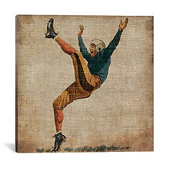 Vintage Football Canvas Art Print