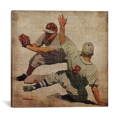 Vintage Baseball Canvas Art Print