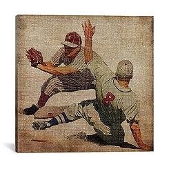 Vintage Baseball Canvas Art Print