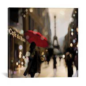 A Paris Stroll Canvas Art Print