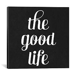 The Good Life Modern Canvas Art Print