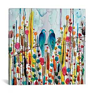 We Birds Abstract Canvas Art Print