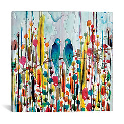 We Birds Abstract Canvas Art Print