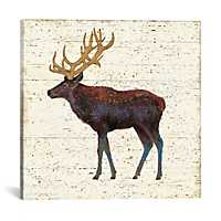 Golden Nature Elk Canvas Art Print