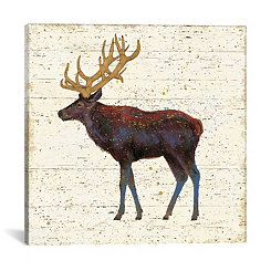 Golden Nature Elk Canvas Art Print