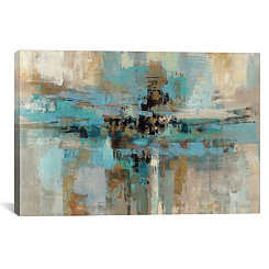 Morning Fjord Abstract Canvas Art Print