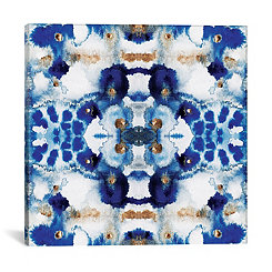 Symmetric Blue Canvas Art Print