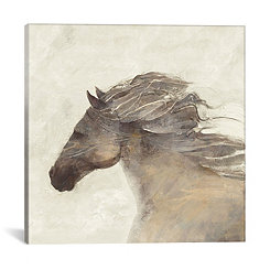 Into The Wind Ivory Canvas Art Print