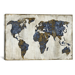 The World Canvas Art Print