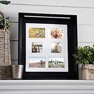 6-Opening Black Wood Collage Frame Tray