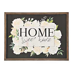 Home Sweet Home Floral Pop-Up Framed Art Print