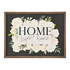 Home Sweet Home Floral Pop-Up Framed Art Print