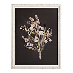 Botanical on Black Framed Art Print