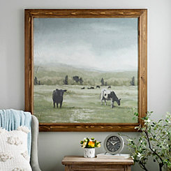 Cows in Pasture Framed Art Print