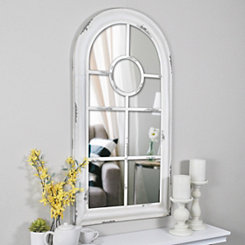 Distressed White Adeline Arch Mirror