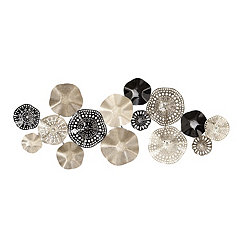 Black and Silver Metal Discs Wall Plaque