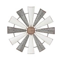 Rustic Metal Windmill Wall Plaque