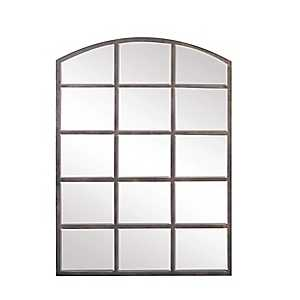 Arched Windowpane Wall Mirror