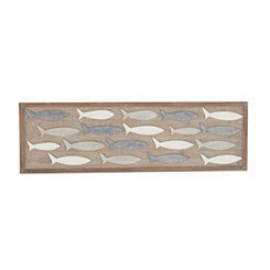 Fish Grouping Wooden Wall Plaque