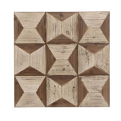 Geometric Matte Wooden Wall Plaque