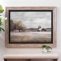 Quiet Foggy Barn Framed Art Print