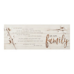 We are Family Canvas Art Print