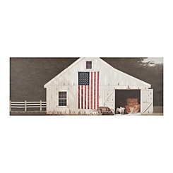 Piglet Barn Canvas Art Print