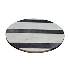 Round Monochrome Stripe Marble Cutting Board