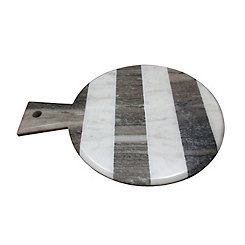 Monochrome Stripe Marble Paddle Cutting Board