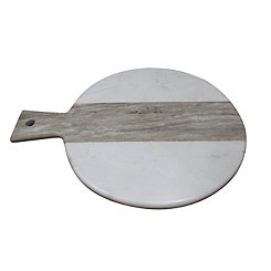 Gray Stripe Marble Paddle Cutting Board