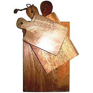 Polished Mango Wood Cutting Boards, Set of 3