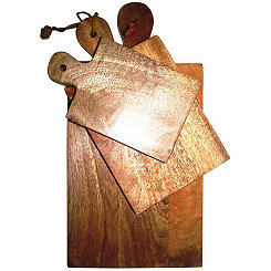 Polished Mango Wood Cutting Boards, Set of 3