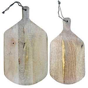 Natural Mango Wood Cutting Boards, Set of 2