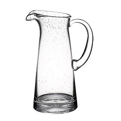 Tall Bubble Glass Pitcher