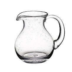 Round Bubble Glass Pitcher