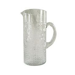 Distressed Silver Glass Pitcher