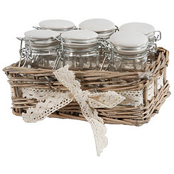 Woven Willow 7-pc. Jar and Basket Set
