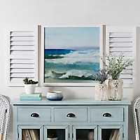 Ocean Waves Framed Shutter Wall Plaques, Set of 3
