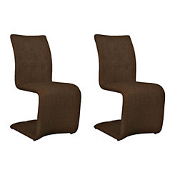 Celeste Brown Dining Chairs, Set of 2